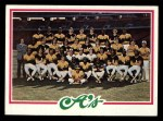 1978 Topps #577   Athletics Team Checklist Front Thumbnail