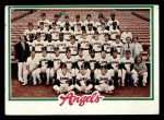 1978 Topps #214   Angels Team Checklist Front Thumbnail