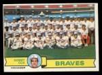 1979 Topps #302   -  Bobby Cox Braves Team Checklist Front Thumbnail