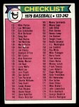 1979 Topps #241   Checklist 2 Front Thumbnail