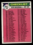 1979 Topps #602   Checklist 5 Front Thumbnail
