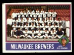 1976 Topps #606   -  Alex Grammas Brewers Team Checklist Front Thumbnail