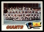 1977 Topps #211   -  Joe Altobelli Giants Team Checklist Front Thumbnail