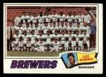 1977 Topps #51   -  Alex Grammas Brewers Team Checklist Front Thumbnail