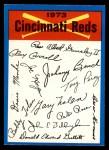 1973 O-Pee-Chee Blue Team Checklist #7   Reds Team Checklist Front Thumbnail
