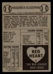 1954 Red Heart  Ted Kluszewski    Back Thumbnail