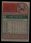 1975 Topps #88  Tom Egan  Back Thumbnail