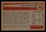 1954 Bowman #109  Roy Smalley  Back Thumbnail