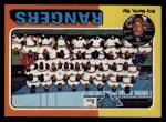1975 Topps #511   -  Billy Martin Rangers Team Checklist Front Thumbnail