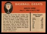 1961 Fleer #56  Dolf Luque  Back Thumbnail