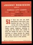 1963 Fleer #51  Johnny Robinson  Back Thumbnail