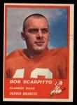 1963 Fleer #81  Bob Scarpitto  Front Thumbnail
