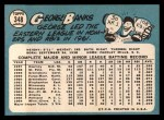 1965 Topps #348  George Banks  Back Thumbnail