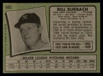 1971 Topps #683  Bill Burbach  Back Thumbnail