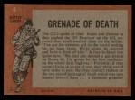 1965 Topps Battle #4   Grenade of Death  Back Thumbnail