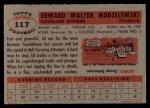 1956 Topps #117  Ed Modzelewski  Back Thumbnail