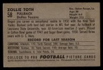 1952 Bowman Large #58  Zollie Toth  Back Thumbnail