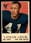 1959 Topps #156  Lindon Crow  Front Thumbnail