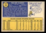 1970 Topps #208  Fred Gladding  Back Thumbnail