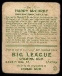 1933 Goudey #170  Harry McCurdy  Back Thumbnail
