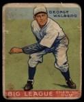 1933 Goudey #183  Rube Walberg  Front Thumbnail