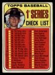 1969 Topps #57 xCLR  -  Denny McLain Checklist 1   Front Thumbnail