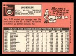 1969 Topps #328  Joe Horlen  Back Thumbnail