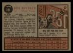1962 Topps #386  Don Mincher  Back Thumbnail