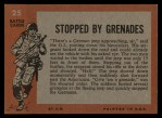 1965 Topps Battle #25   Stopped by Grenades  Back Thumbnail