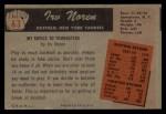 1955 Bowman #63  Irv Noren  Back Thumbnail