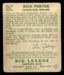 1934 Goudey #43  Dick Porter  Back Thumbnail