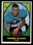 1967 Topps #85  Norm Evans  Front Thumbnail
