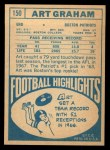 1968 Topps #150  Art Graham  Back Thumbnail
