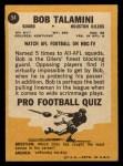 1967 Topps #54  Bob Talamini  Back Thumbnail