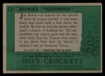 1956 Topps Davy Crockett Green Back #53   Bowie's 'Toothpick'  Back Thumbnail