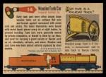 1955 Topps Rails & Sails #14   Wooden Tank Car Back Thumbnail