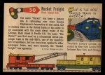 1955 Topps Rails & Sails #50   Rocket Freight Back Thumbnail