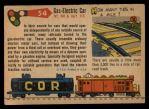 1955 Topps Rails & Sails #54   Gas-Electric Car Back Thumbnail
