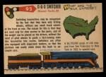 1955 Topps Rails & Sails #95   0-6-0 Switcher Back Thumbnail
