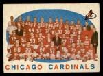 1959 Topps #118   Cardinals Team Checklist Front Thumbnail