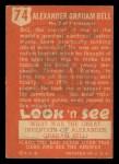 1952 Topps Look 'N See #74  Alexander Graham Bell  Back Thumbnail