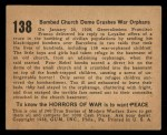 1938 Gum Inc. Horrors of War #138   Bombed Church Dome Crushes War Orphans Back Thumbnail