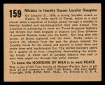 1938 Gum Inc. Horrors of War #159   Mistake in Identity Causes Loyalist Slaughter Back Thumbnail