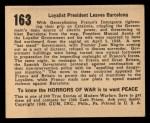 1938 Gum Inc. Horrors of War #163   Loyalist President Leaves Barcelona Back Thumbnail