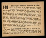 1938 Gum Inc. Horrors of War #148   Clearing the Battlefield for Action in China Back Thumbnail