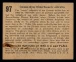1938 Gum Inc. Horrors of War #97   Chinese Army Hides Beneath Umbrellas Back Thumbnail
