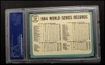 1965 Topps #139   1964 World Series - Summary - The Cards Celebrate Back Thumbnail