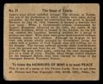 1938 Gum Inc. Horrors of War #21   The Siege of Toledo Back Thumbnail