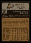 1973 Topps #294  Steve Arlin  Back Thumbnail