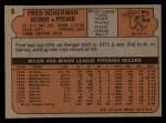 1972 Topps #6  Fred Scherman  Back Thumbnail